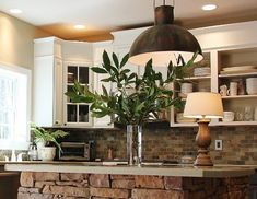 Modern and Elegant Stacked Stone Kitchen Islands Ideas For Traditional Home Design