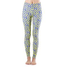 35a962ee2253f Dinamit Juniors' Triangular Print Blue and Yellow Footless Leggings Women  Clothing Stores Online, Pajama
