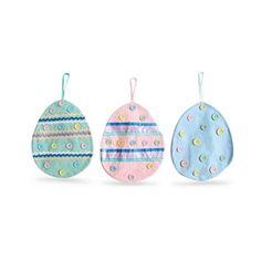 3 Fabric Easter Egg Table Accents