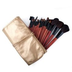 18 Piece Makeup Brush Set and Case, For Eye Shadow, Blush, Concealer, Etc, Gift idea $18.49