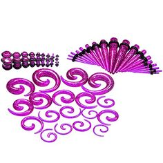 Qmcandy 54pcs 14G-00G Acrylic Purple Tapers + Spiral Tape... https://www.amazon.com/dp/B01N9ZTZR4/ref=cm_sw_r_pi_dp_x_p3HUybR8X0XCQ