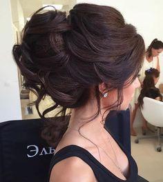 Wedding-Hairstyles-for-Long-Hair-Wedding-Updo-Hair-Styles - Neue Frisuren Romantic Wedding Hair, Long Hair Wedding Styles, Long Hair Styles, Trendy Wedding, Perfect Wedding, Wedding Bun, Wedding Ceremony, Wedding Nails, Chic Wedding
