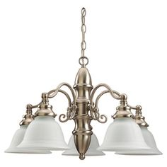 Sea Gull Lighting Canterbury 5-Light Brushed Nickel Chandelier ENERGY STAR