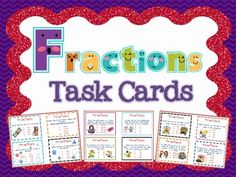 A set of 24 task cards that require students to identify a variety of fractions using pictures, word problems, etc. These task cards can be used i. Fraction Activities, Teaching Resources, Homeschooling Resources, Math Rotations, Math Centers, Math Task Cards, Differentiated Instruction, Recording Sheets, Special Education Teacher