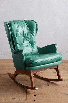 Premium Leather Finn Rocking Chair #anthropologie