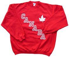 Canada Maple Leaf Sweatshirt (red)