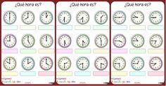 Trabaja las horas y los relojes con estas fichas para conocer y repasar las horas.