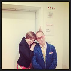 Lena Dunham & David Sedaris. I want to stand between them and let their wit and talent perfume the air.