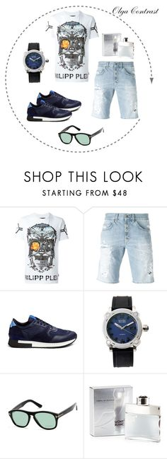 """03.06.2016"" by olgacontrast on Polyvore featuring Philipp Plein, Dondup, Givenchy, Bulova Accu-Swiss, Tom Ford, Mont Blanc, men's fashion и menswear"