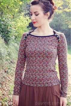 Pattern: Bronte top by Jennifer Lauren Vintage, via Perfect Pattern Parcel...