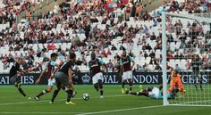 Southampton's James Ward-Prowse scores their third goal to complete the rout of West Ham
