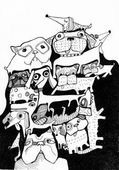 Dog Illustration, Sofie Børsting