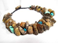 raw amber in this handmade necklace.