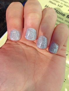 Silver powder sparkle (nexgen) nails