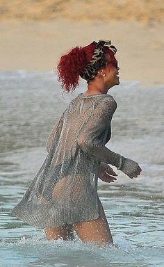 Rihanna: Barbados beach babe