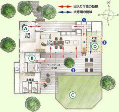 大型犬と暮らす家|森林住宅地 モデルプラン集 | 田舎暮らし・別荘|ダイワハウス