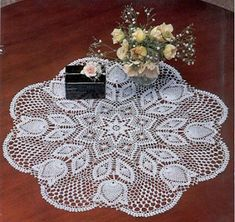 Free pattern for this crochet doily…. Crochet Stitches Patterns, Lace Patterns, Thread Crochet, Filet Crochet, Lace Knitting, Crochet Designs, Crochet Tablecloth, Crochet Doilies, Pineapple Crochet