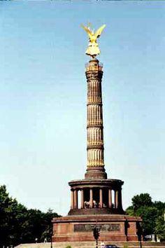 Berlin Landmark - Siegesäule (Victory Column in honor of Prussian defeat of…
