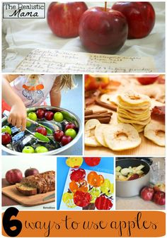 Have extra apples? Do these 6 super fun activities with your kids today!