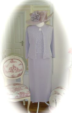 Montage Dress/Jacket, 24/26, Lilac & Snoxell Hat, Weddings Races Ladies Formal