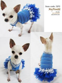Pet and Dog Tutu Dress Wedding Crochet DF2 | Dog Fancy Dresses | myknitt