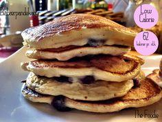 Amerikanske pandekager med blåbær - 62 kalorier pr. stk.