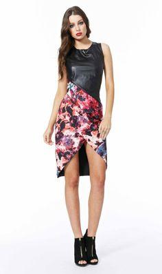 AlibiOnline - Monet Madness PU Contrast Dress by COOPER ST, $159.95 (http://www.alibionline.com.au/monet-madness-pu-contrast-dress-by-cooper-st/)