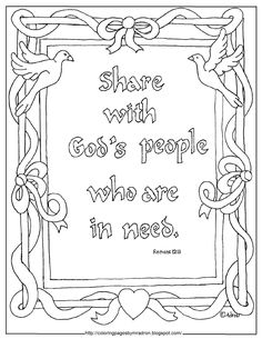 This Free Printable Coloring Page Is Ideal To Reinforce A Lesson On Sharing It Useful For Bible Class Childrens Church VBS Backyar