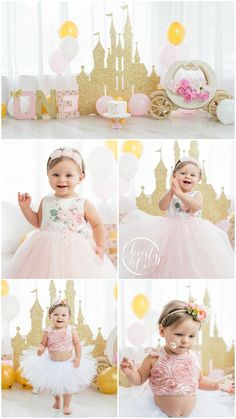 Princess Cake Smash | First Birthday Session | Christy & Co. Photography