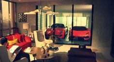 Supercars in your living room via @ParkatmyHouse