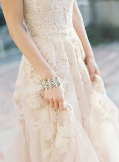 Romantic lace embroidered wedding dress: http://www.stylemepretty.com/2016/02/17/romantic-wedding-dresses/