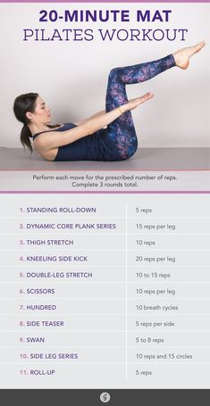 The 20-Minute Pilates Workout for Any Fitness Level #pilates #workout #fitness