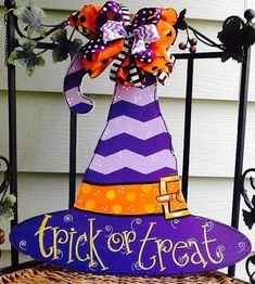Hey, I found this really awesome Etsy listing at https://www.etsy.com/listing/245935573/witches-hat-door-sign-witches-hat-door