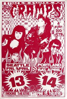 1990-04-13 The Moore Theatre, Seattle WA 04-14 Pine St. Theatre, Portland OR + Flat Duo Jets