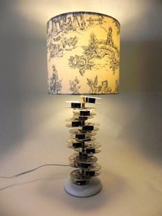 Film Reel Table Lamp by UpcycleInfatuation on Etsy, $58.00