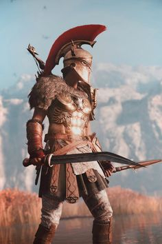 Assassin Creed Oddysey In Game Photography Tatuajes Assassins Creed, Arte Assassins Creed, Assassins Creed Odyssey, Greek Warrior, Fantasy Warrior, Fantasy Character Design, Character Art, Assassin's Creed Wallpaper, Spartan Tattoo