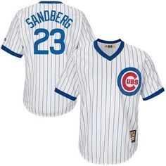 mens chicago cubs ryne sandberg majestic white home cool base cooperstown collection player jersey