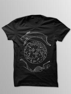 Lunar Hare T-Shirt. $13.00, via Etsy.