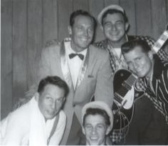 A rare Cliff Gallup photo w/ Paul Burlison and Johnny Burnette