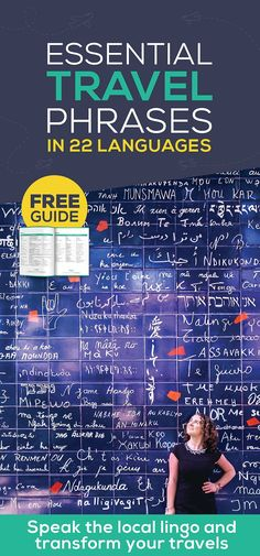 Essential Travel Phrases in 22 Languages [Free Guide] Italian Phrases, French Phrases, Travel Essentials, Travel Tips, Travel Books, Travel Ideas, Learning Spanish, Learning Resources, Learning Tools