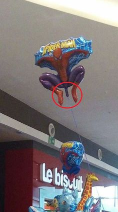 Alright son you want a Spiderman balloon after Far from home?wait no mom Spiderman Balloon, Design Fails, Comic Sans, Lens Flare, Balloons, Neon Signs, Flow, Globes, Hot Air Balloons