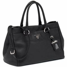 872723c56f58b0 Prada Vitello Daino Handbag in Black Leather BR4393 Best Handbags, Black  Handbags, Cute Bags