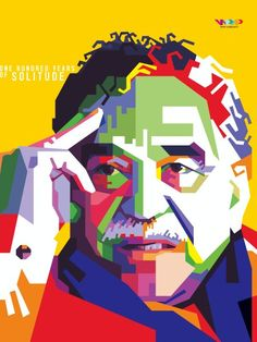 Gabriel Garcia Marquez in Wedha's Pop Art Portrait Style Garcia Marques, Latina, Vector Pop, Pop Art Portraits, Lost Art, Mexican Art, Art Lesson Plans, Vector Portrait, Character Art