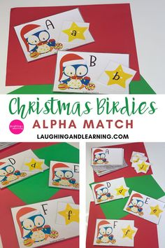 Tweet Tweet! Here they come! The sweet Christmas Birdies looking for their matching alphabet stars!  Use this activity to practice letter recognition and more! #printableactivities #preschoolactivities #literacyactivities #preschoolliteracycentre #printableliteracyactivitiy #printableliteracyactivities #education #printableactivitiesforkids  #christmasthemedactivities Christmas Activities For Kids, Printable Activities For Kids, Alphabet Activities, Literacy Activities, Educational Activities, Christmas Themes, Tweet Tweet, Alphabet Cards, Phonological Awareness