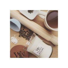 BOUGIE WOODWICK HOURGLASS 'WHITE TEA & JASMINE'