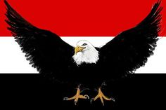Eagle in front of Egypt flag