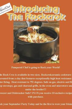 Rock Crok recipes  for more recipe ideas visit www.pamperedchef.biz/jodidillmon