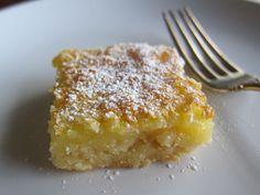 Lemon bars with a coconut oil crust. Mmm.