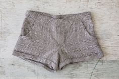 Herringbone shorts from Uganda by One Mango Tree