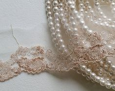 - Rose Gold Vintage Lace Trim, Embroidered Gauze Lace, Floral Embroidery Tulle Fabric for wedding bridal dress, lingerie Great Comet Of 1812, The Great Comet, Aphrodite, Carlson Young, Malboro, Lucet, Markova, Princess Aesthetic, Cinderella Aesthetic